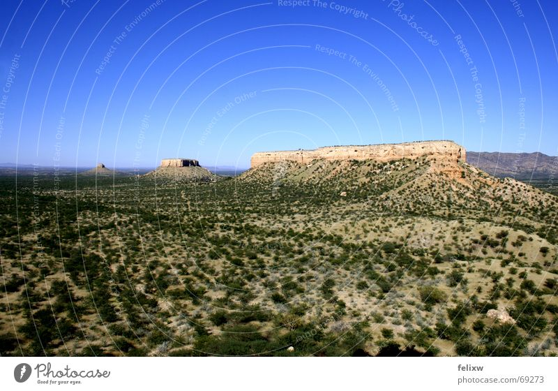 Nature Sky Blue Mountain Large Africa Beautiful weather South Valley Namibia Geography Table mountain