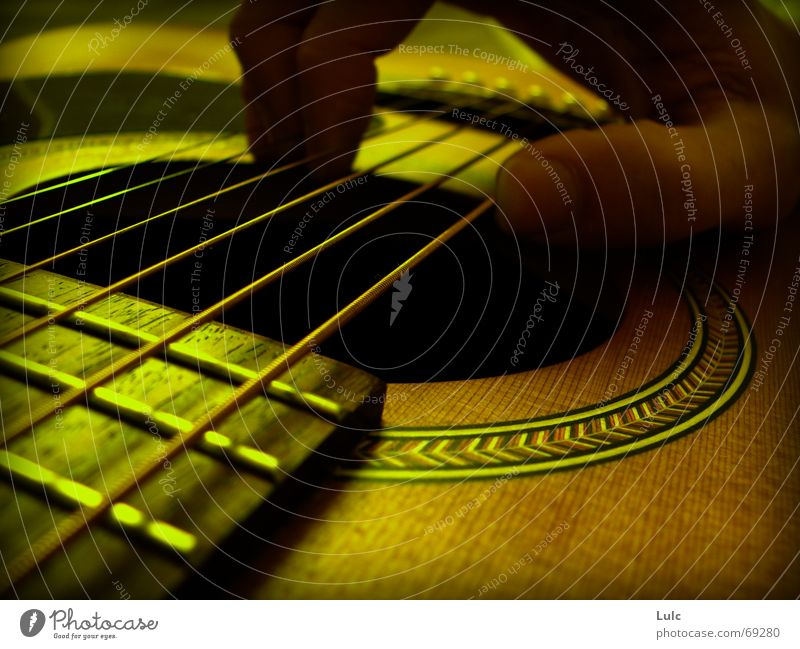 In the mood Music Physics Yellow guitar fingers strings acoustic fetch Warmth nostalgic