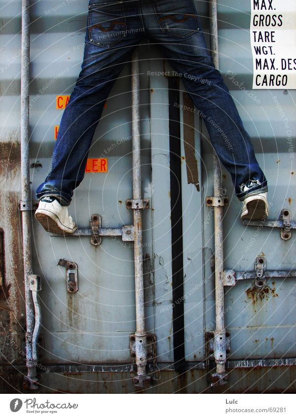 Climb Me climbing youth To fall Container blue Jeans shoes