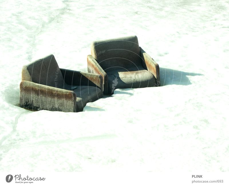 have a seat Armchair Helsinki Relaxation Photographic technology Ice Snow Harbour Sun ...