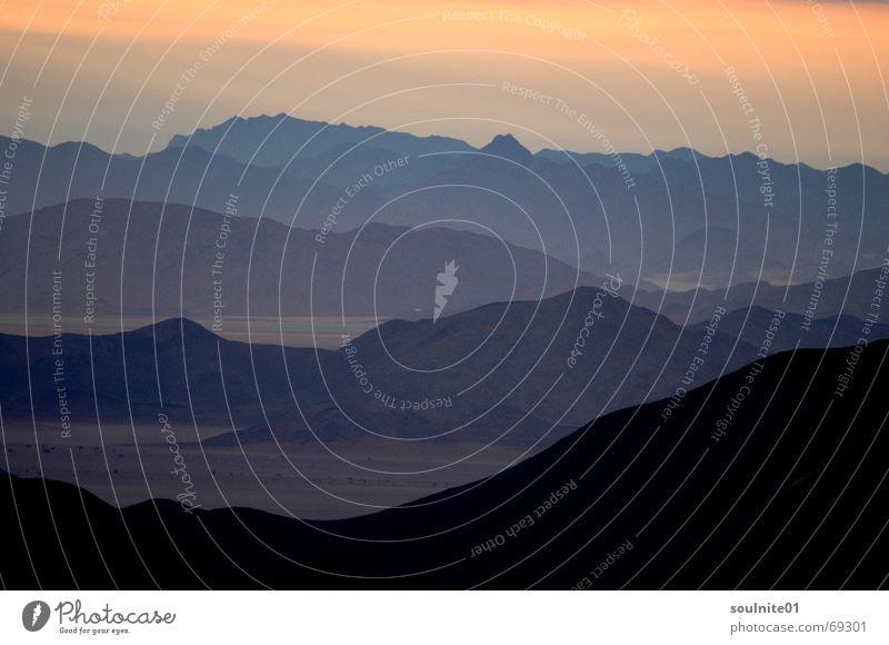 Nature Far-off places Mountain Horizon Vantage point Africa Desert Wanderlust Namibia