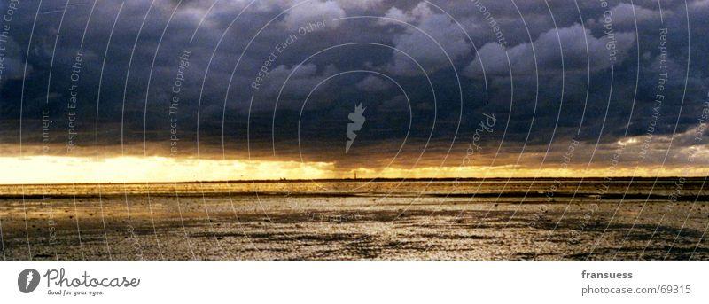 Sky Sun Ocean Clouds Hiking Island North Sea Mud Mud flats