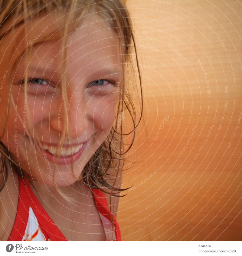 laugh 1 Grinning Portrait photograph Child Girl Tent Camping Laughter Face Happy Joy friend