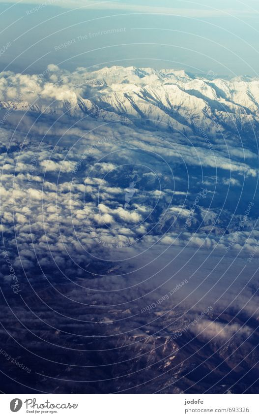 above the clouds Environment Landscape Earth Air Sky Clouds Mountain Peak Snowcapped peak Freedom Above the clouds Flying Weightlessness Infinity