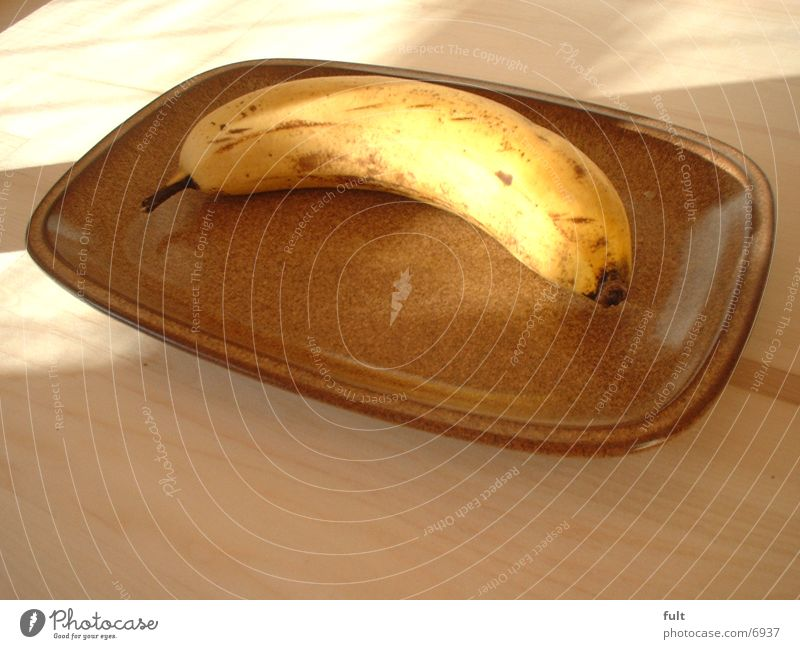 Wood Healthy Fruit Plate Banana