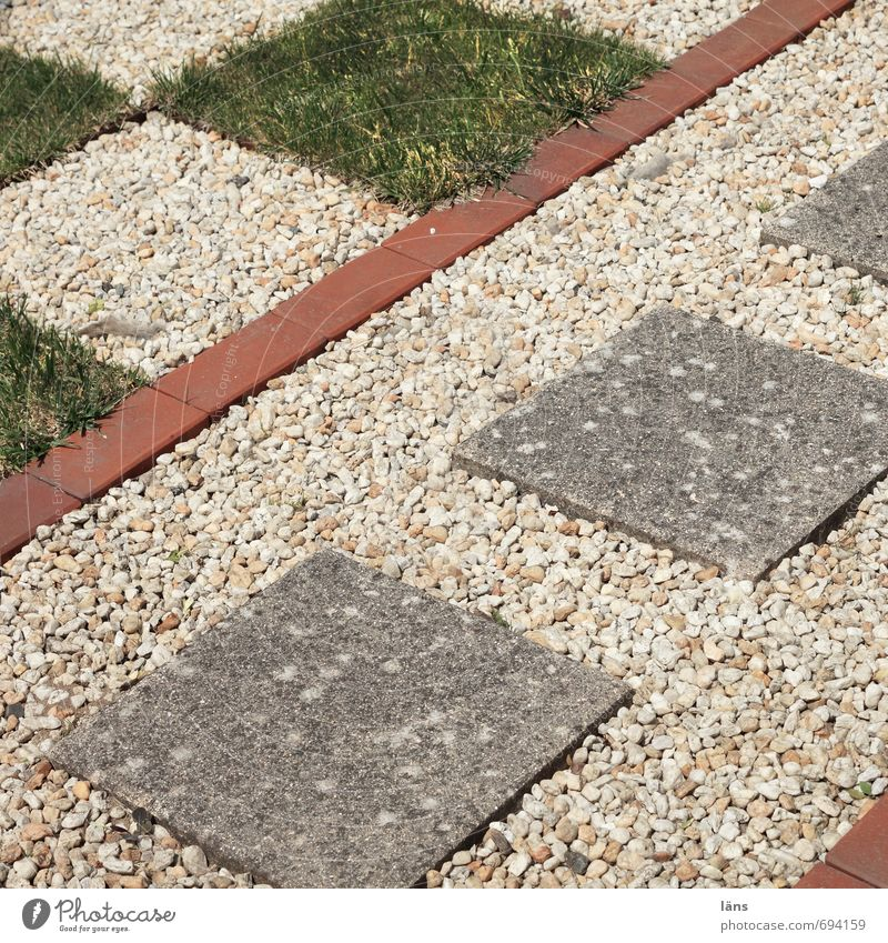 front garden idyll Style Leisure and hobbies Garden Stone Exceptional Uniqueness Passion Dedication Orderliness Effort Lawn Pebble Paving tiles Footpath Square