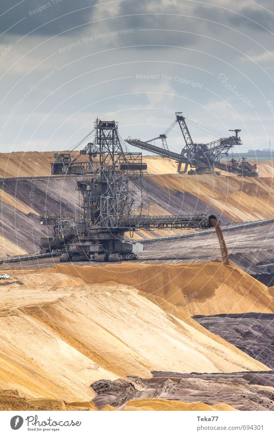 Nature Landscape Environment Sand Earth Power Energy industry Elements Technology Industry Hill Machinery Engines Energy crisis Soft coal mining Lignite