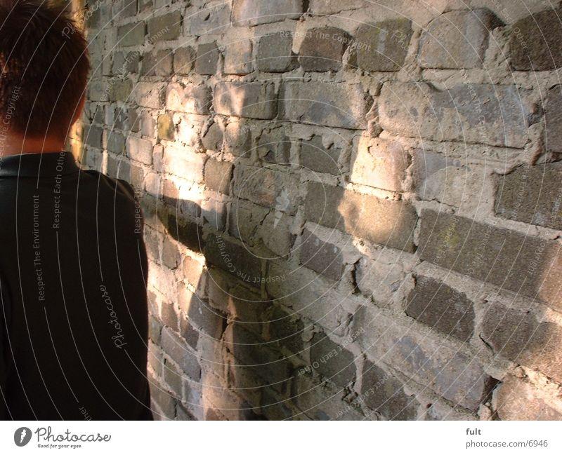 Man Wall (building) Wall (barrier)