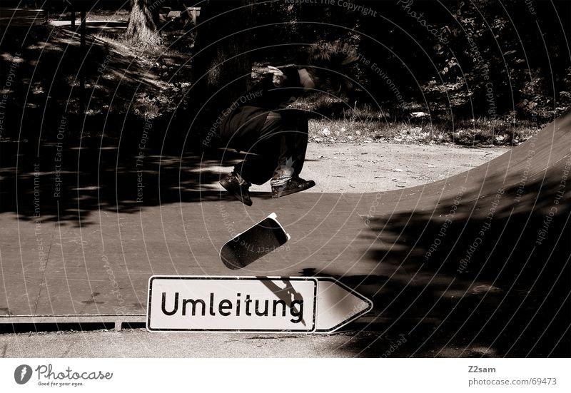 Sports Jump Style Above Signs and labeling Skateboarding Salto Halfpipe Trick Funsport Parking level Stunt Diversion Kickflip