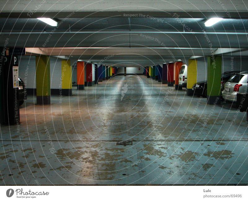 Park A Lot Zoom effect colours colors cars parking basement lights concrete