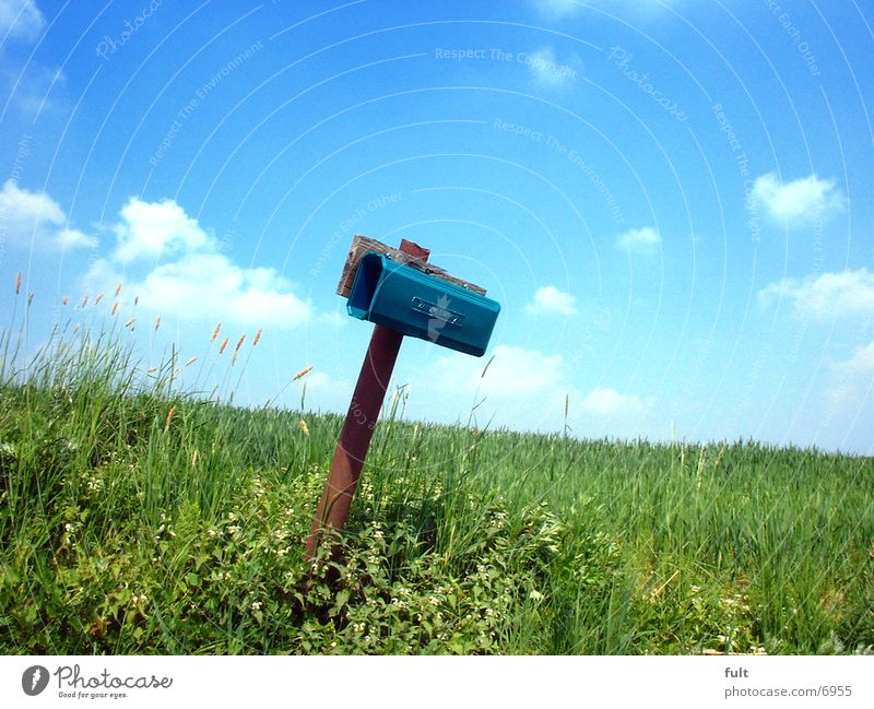 Sky Grass Landscape Field Communicate Information Contact Card Box Plastic Email Mail Mailbox Resign Zip code