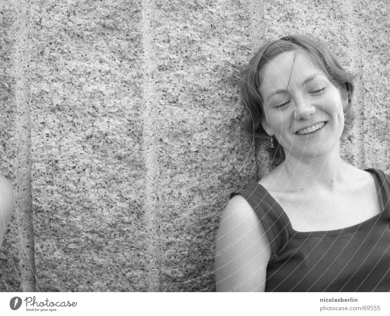 why not? Woman Black White Trust Portrait photograph Laughter Joy Happy Life Funny Freedom