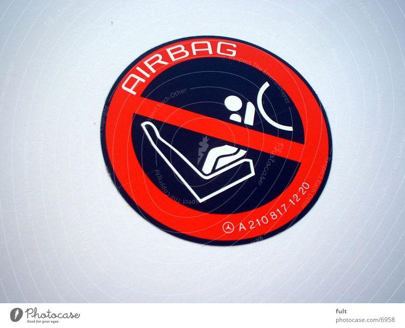 airbag Airbag Label Black White Red Things Warning label