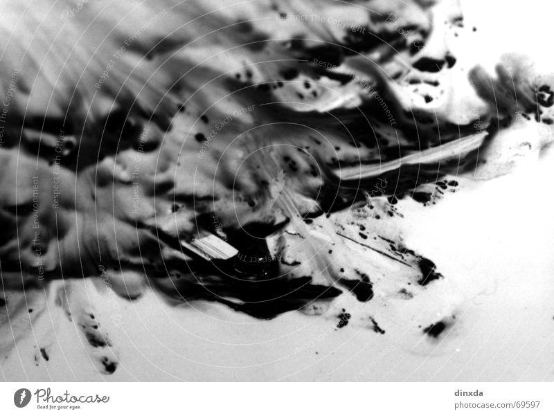 White Black Colour Movement Waves Dirty Fluid Damp Patch Progress