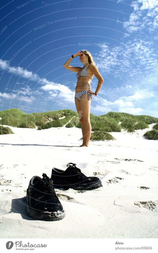 Beautiful Sky Sun Ocean Summer Beach Vacation & Travel Clouds Sand Footwear Search Bikini Beach dune Find Denmark