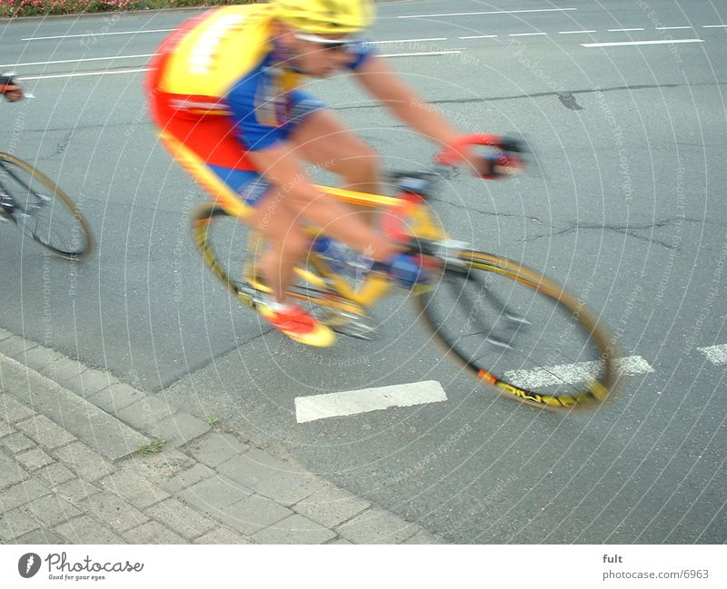 biker Bicycle Racing cyclist Multicoloured Tar Extreme sports Street Cycling