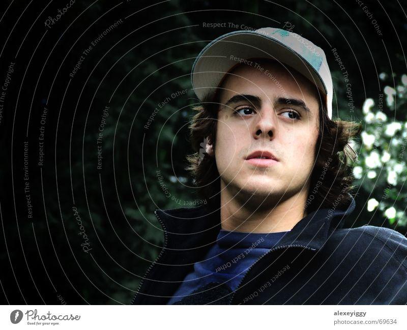 profile Silhouette Exposure Baseball cap Man Masculine Human being Profile light/dark