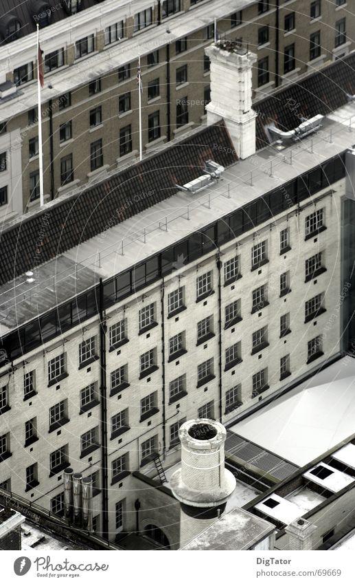 City Gray Gloomy Factory London Diagonal Chimney Monochrome