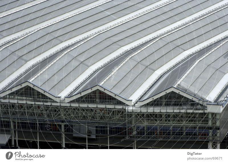 Cold Gray Gloomy Roof London Warehouse Monochrome