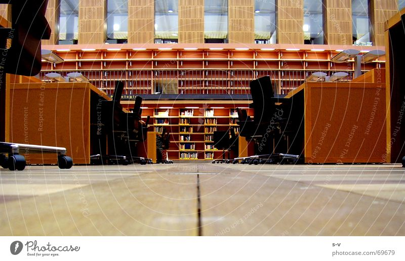 Reading room of the SLUB Dresden Library Wood Wooden floor Floor covering Saxon state library state and university library dresden cellescher way