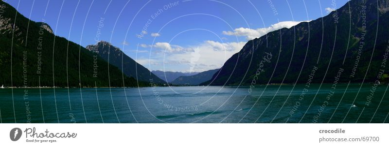 Sky Joy Vacation & Travel Clouds Far-off places Mountain Freedom Lake Waves Large Europe Austria Panorama (Format) Federal State of Tyrol Chalk alps