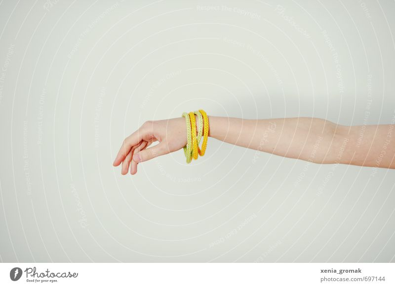 bangle Yoga Human being Arm Hand Fingers 1 Fashion Accessory Jewellery To enjoy Yellow White Ease Delicate Caresses Outstretched Reaction Stretching Movement
