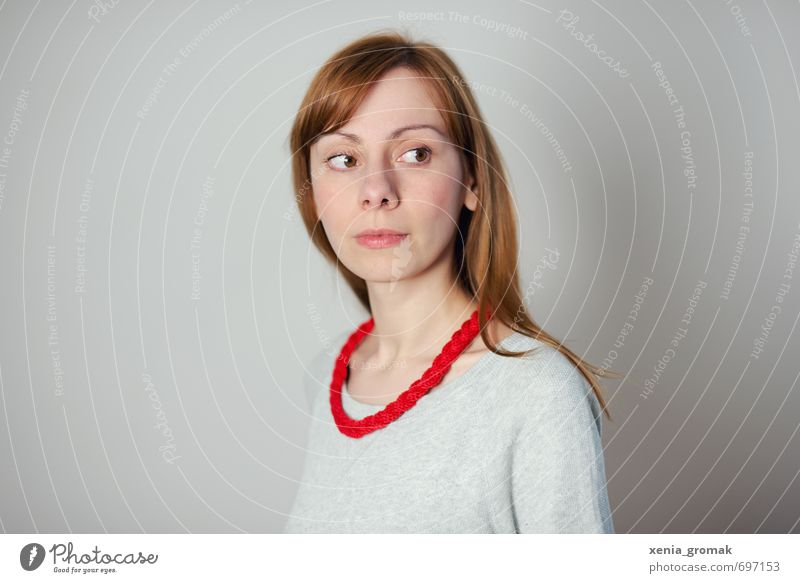 Human being Woman Child Youth (Young adults) Beautiful White Young woman Red 18 - 30 years Adults Life Feminine Think Bright Fashion Modern
