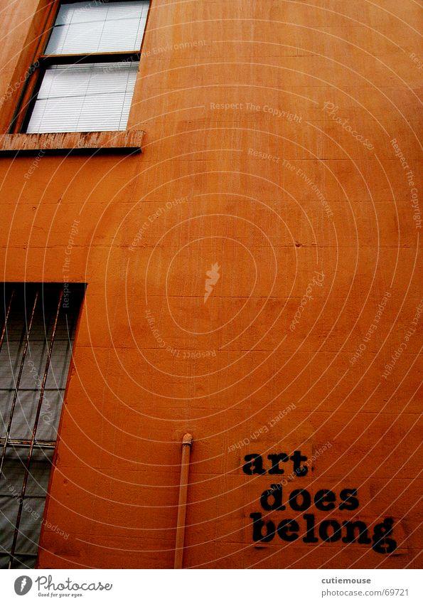 Wall (barrier) Orange Art Halfpipe