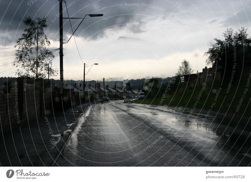 Clouds Loneliness Street Dark Rain Village Wales