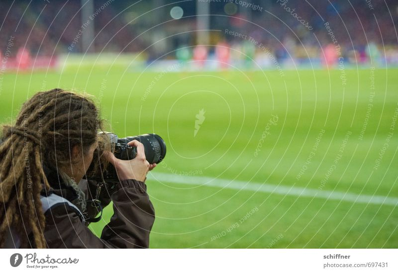 paparasta Sports Soccer Sporting Complex Sporting event Football pitch Human being Feminine Young woman Youth (Young adults) Woman Adults Head