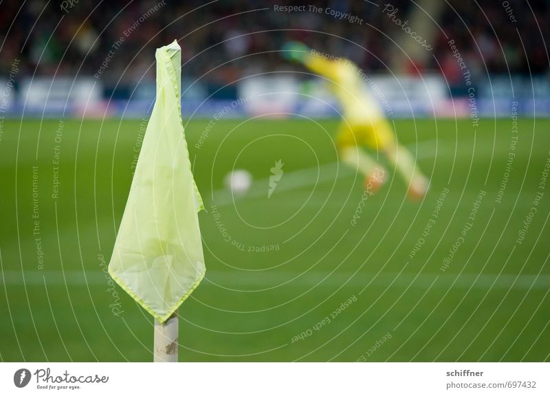 Human being Youth (Young adults) Man Green Young man Adults Sports Playing Masculine Soccer Foot ball Sports team Corner Audience Sporting event Sportsperson