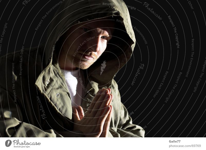 Human being Hand Dark Bright Prayer Jesus Christ God Hooded (clothing) Deities Clothing Headwear Anorak