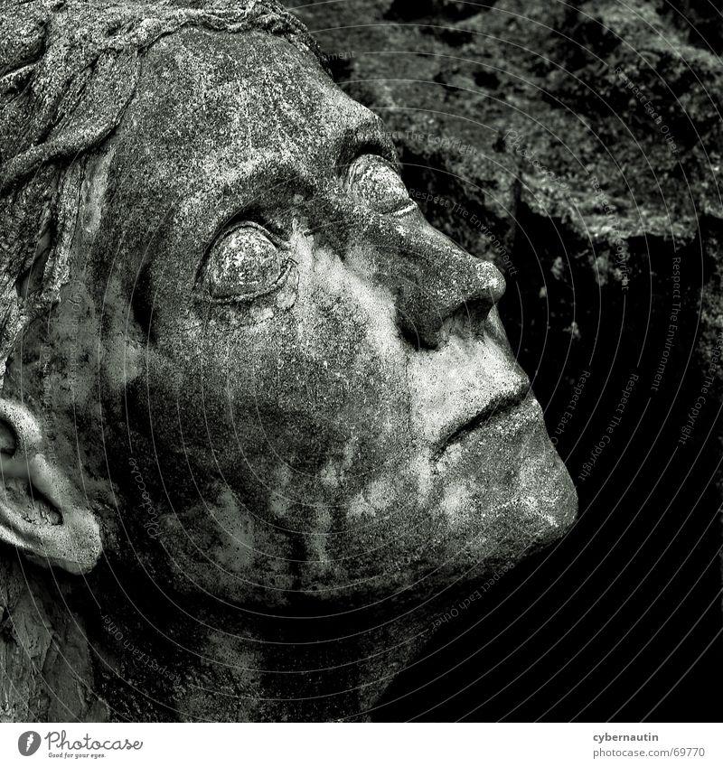 Woman Looking Stone Hope Transience Decline Sculpture Memory Work of art