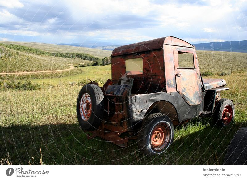 Old Car Driving Countries Rust Nostalgia Vintage car Western Scrapyard Colorado Offroad vehicle Joyride
