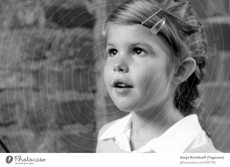 Child Nature Girl Portrait photograph Building Sweet Open Friendliness Kindergarten Fairy Graceful Dreamily Braids Marvel Honest Brilliant