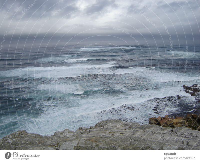 Ocean Dark Rain Waves Coast Surf South Africa Africa Menacing Cape of Good Hope
