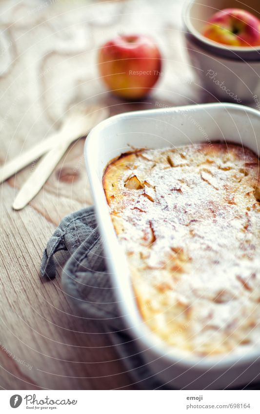 Apple pancake from the oven Fruit Cake Dessert Candy Nutrition Slow food Bowl Delicious Sweet Pancake Colour photo Interior shot Deserted Day
