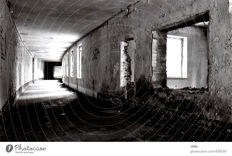 WKH gear To go for a walk Derelict Window Tunnel Long Old over the bath