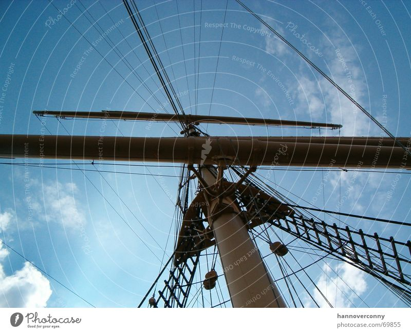 Sky Sun Ocean Lake Watercraft Net Monument Navigation Landmark Electricity pylon Expectation Sail Sailing ship Schleswig-Holstein TRavemünde