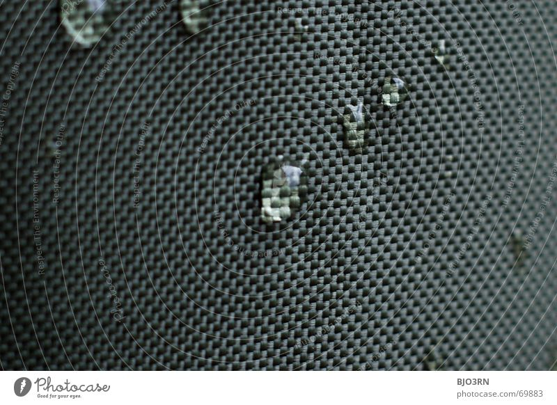 drops on canvas #01 Cloth Drape Graphic Pictorial space Macro (Extreme close-up) Across Format Landscape format Product Rain Damp Green Dark green fabric gauze