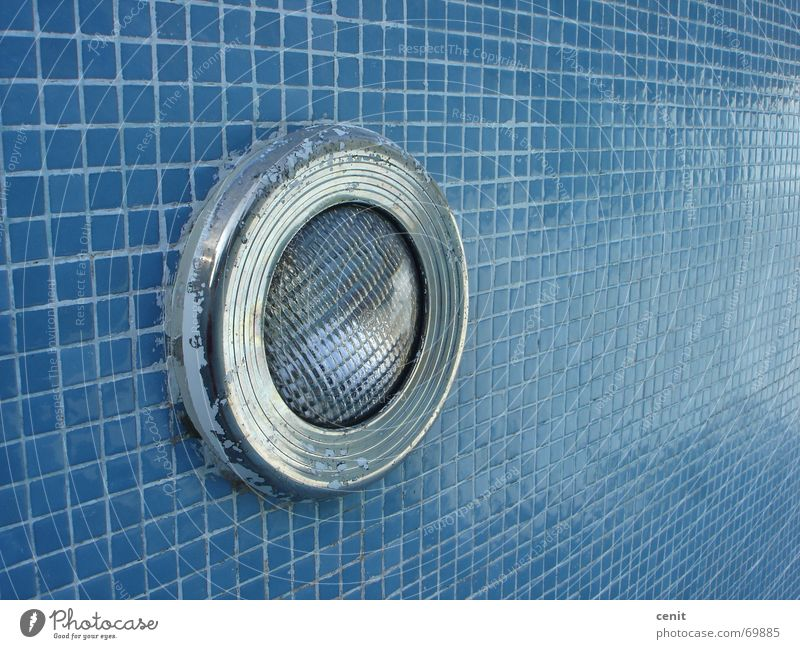 The Light of the pool Swimming pool Summer piscina azul gresite azulejos