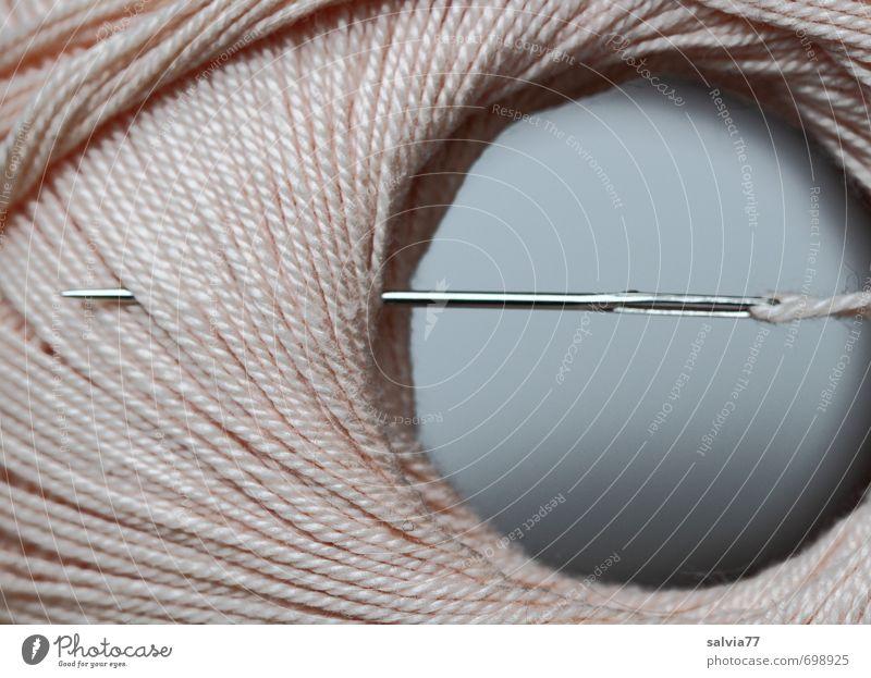 Needle and yarn Metal Bow Arrangement Sewing thread Wool Sewing needle Household Handcrafts Point Loop ensnare Pierce Darning Repair kit Pink Knot Round