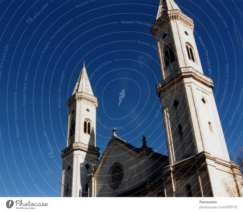 ludwigskirche Bavaria Munich Building White Religion and faith Catholicism Deities St. Ludwig Academic studies university church Germany Sky Blue God
