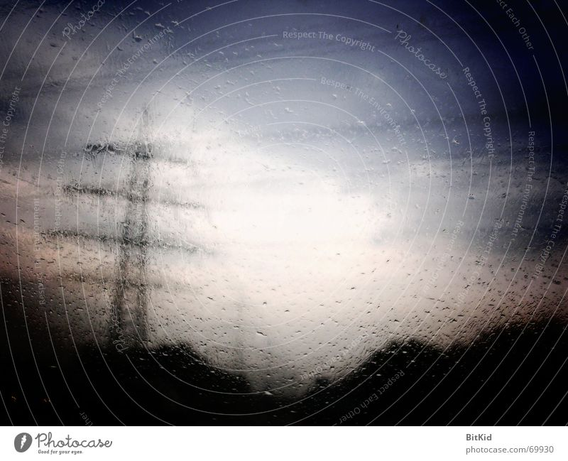 rain current Highway Light Rain Window pane current conduction Car Landscape Net
