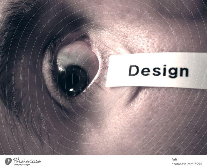 Man Eyes Style Design Label