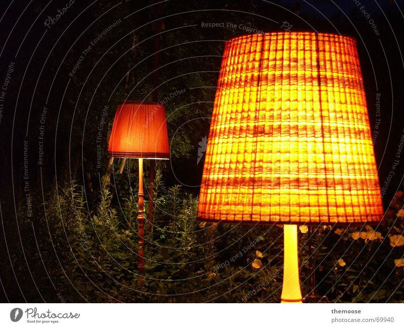 The LIGHTS Lamp Light Red Night Lampshade Lamp stand Standard lamp Cloth Dark Physics Cozy Yellow Green 2 Old Orange metal stand Warmth Plant overgrown