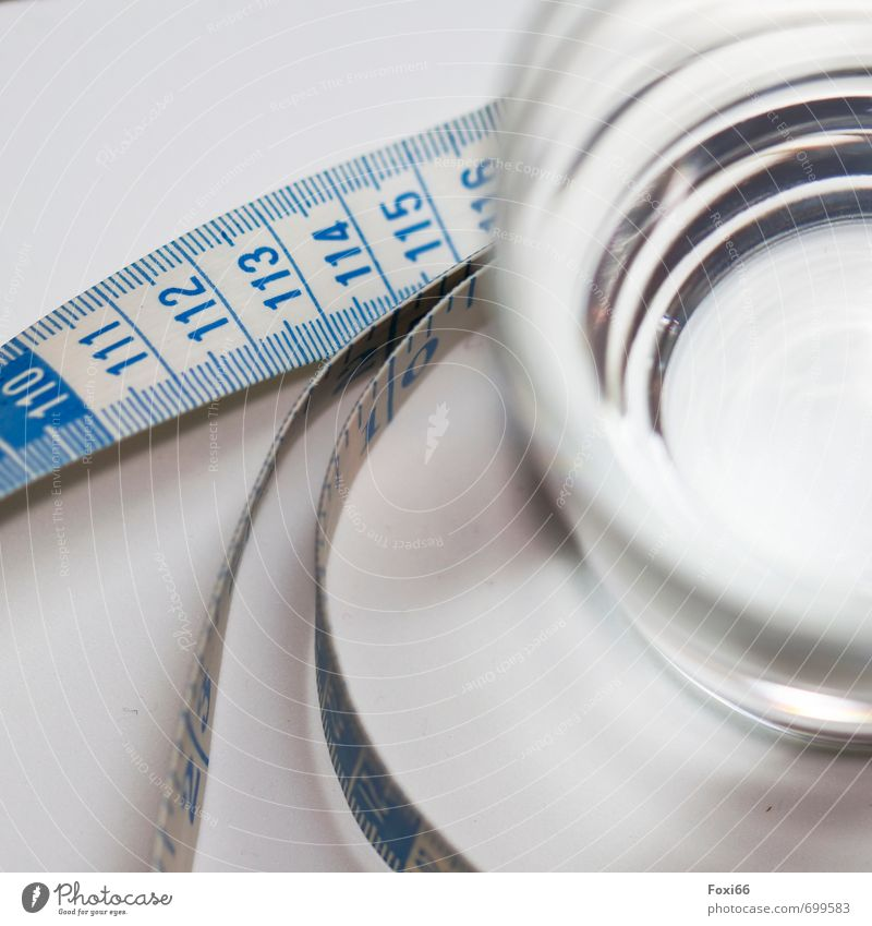 on our health Organic produce Vegetarian diet Diet Fasting Beverage Drinking Cold drink Drinking water Glass Healthy Eating Overweight Tape measure Water