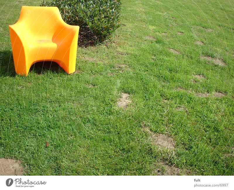 Style Orange Lawn Chair Living or residing