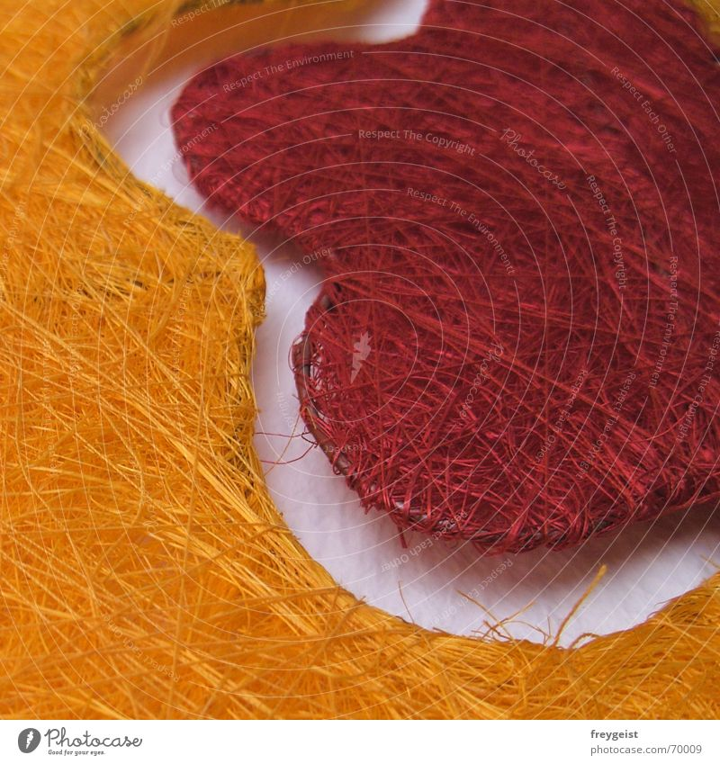 Flower Red Orange Wire Reticular Sisal