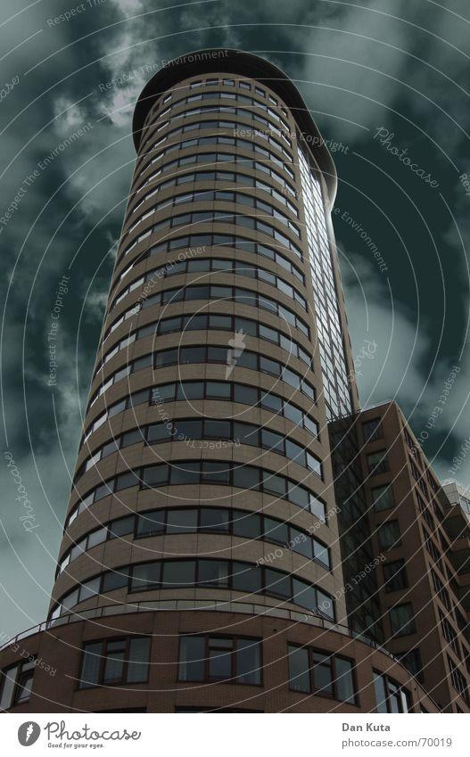 architecture High-rise Dark Clouds Light Worm's-eye view Cold Vlissingen Netherlands Zeeland Coast Modern Tower Weather Architecture